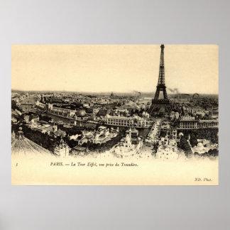 De Reis Eiffel, de Wijnoogst van La van Parijs Poster