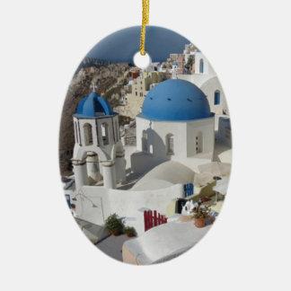 De Reis van Griekenland van Mykonos Keramisch Ovaal Ornament