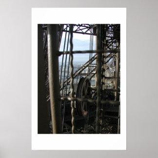 De Reis van La d'Eiffel op Wit Poster