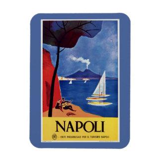 De reisadvertentie van Italië van Napeles retro Magneet