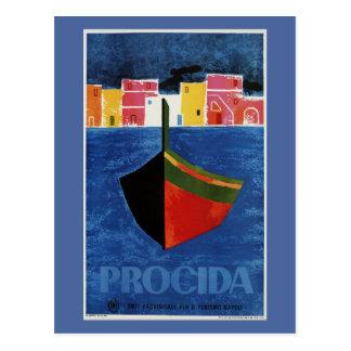 De reisadvertentie van Napels Italië van Procida Briefkaart