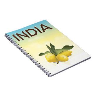 De reisposter van de Citroen van India Ringband Notitieboek