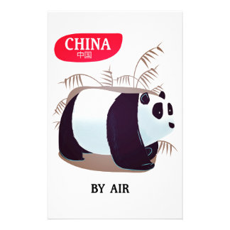 De reisposter van de Panda van China Briefpapier