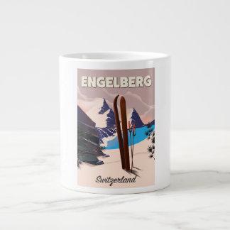 De reisposter van de Ski van Zwitserland van Grote Koffiekop