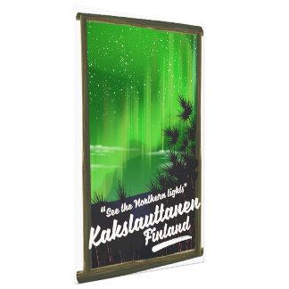 De reisposter van Finland van Kakslauttanen Canvas Print