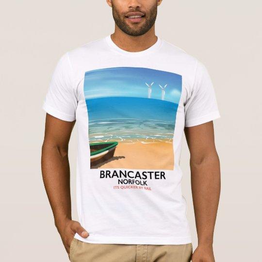 De reisposter van het Strand van de Spoorweg van T Shirt