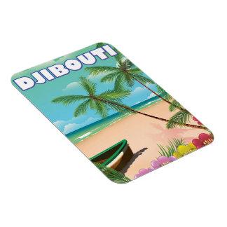 De reisposter van het Strand van Djibouti Magneet