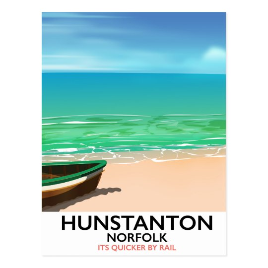 De reisposter van het Strand van Norfolk van Briefkaart