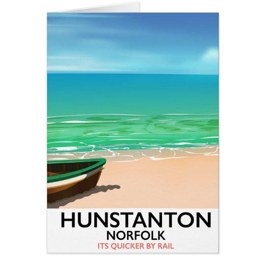 De reisposter van het Strand van Norfolk van Briefkaarten 0