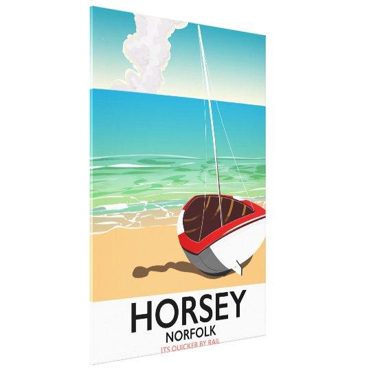 De reisposter van het Strand van Norfolk van Canvas Print