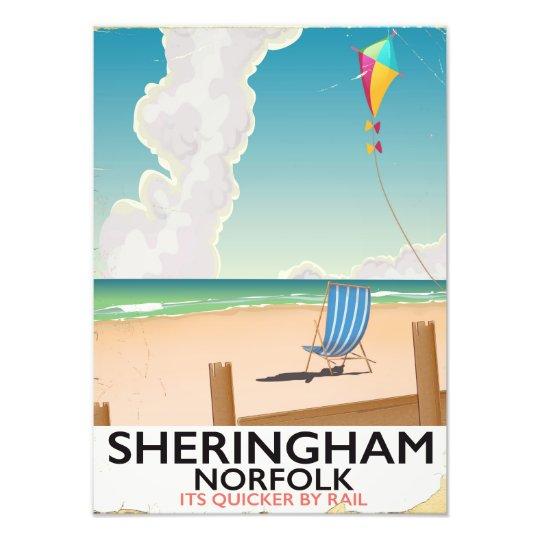 De reisposter van het Strand van Norfolk van Foto