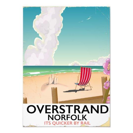De reisposter van het Strand van Norfolk van Foto Afdruk