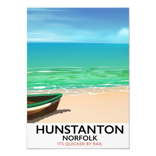 De reisposter van het Strand van Norfolk van Foto Prints