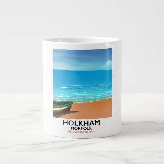 De reisposter van het Strand van Norfolk van Grote Koffiekop