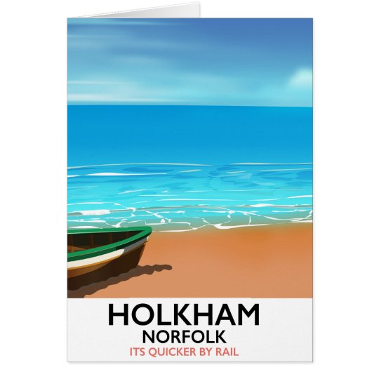 De reisposter van het Strand van Norfolk van Kaart
