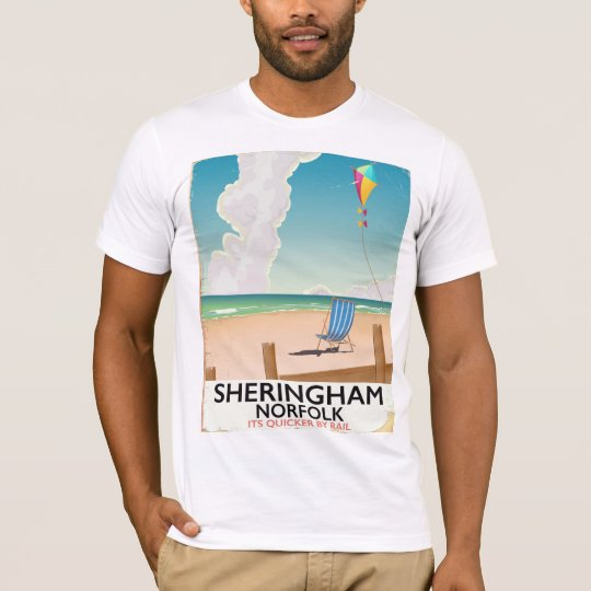 De reisposter van het Strand van Norfolk van T Shirt