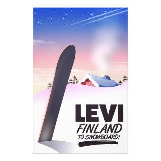 De reisposter van Levi Finland Snowboarding Briefpapier