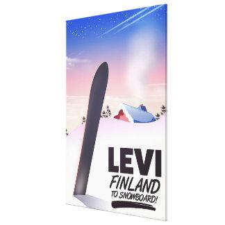 De reisposter van Levi Finland Snowboarding Canvas Afdrukken