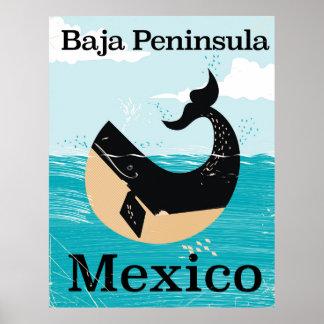de reisposter van Mexico van het bajaschiereiland Poster