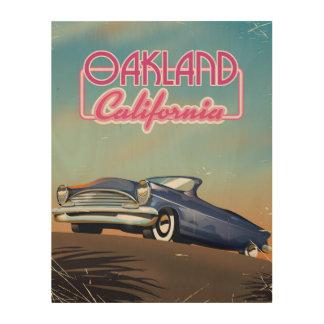 De reisposter van Sacramento Californië Hout Prints