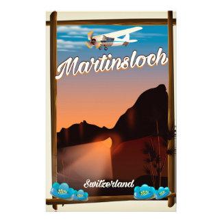 De reisposter van Zwitserland van Martinsloch Briefpapier