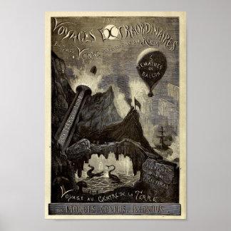 De Reizen Extraordinaires van Jules Verne (1861) Poster
