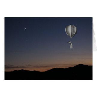 De reiziger van de wereld. Hete luchtballon, Wenskaart