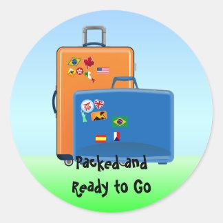 De Reiziger van de wereld, Ingepakt en Klaar te Ronde Sticker
