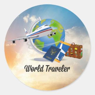 De Reiziger van de wereld, Ontwerp 2 Ronde Sticker