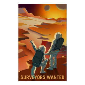 De Rekrutering van Mars - Landmeters Gewild Poster