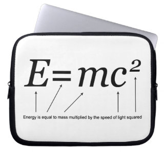 De Relativiteitstheorie van E=MC2 Einstein Laptop Sleeve