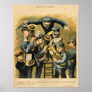 De repetitie van de band poster