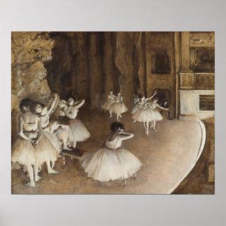 De Repetitie van het ballet op Stadium | Edgar Poster