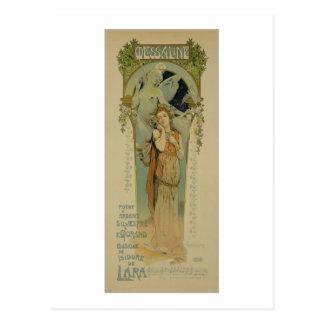 De reproductie van een poster adverteren de opera briefkaart