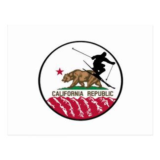 De Republiek van de ski Briefkaart
