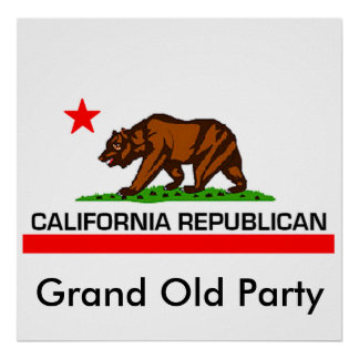 De Republikein van Californië Poster