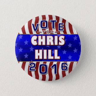 De Republikein van de Verkiezing van Chris Hill Ronde Button 5,7 Cm