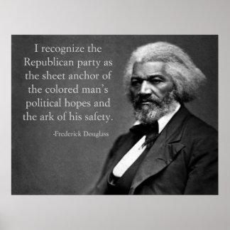 De Republikein van Douglass van Frederick Poster