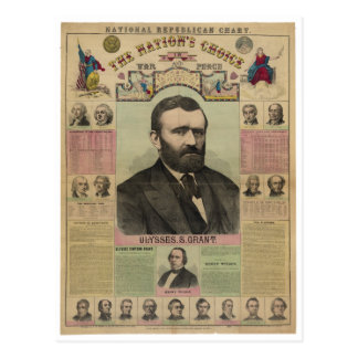 De republikeinse Grafiek Ulysses S. Grant door Briefkaart