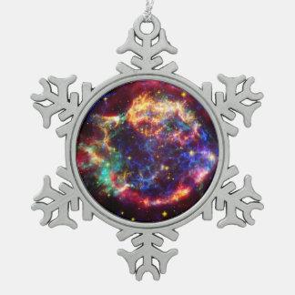 De rest van de Supernova van de Melkweg van Tin Sneeuwvlok Ornament