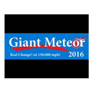 De reuze Echte Verandering van de Meteoor 2016 bij Briefkaart