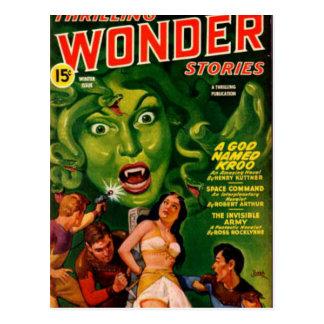 De reuze Groene Vrouw van de Slang Briefkaart