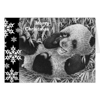 De reuze Kerstkaart van de Welp van de Panda Briefkaarten 0