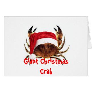 De reuze Vijandelijke Kerstkaart van de Krab Briefkaarten 0