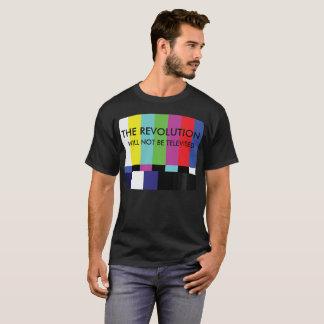 De revolutie met niet om worden op de televisie t shirt