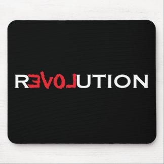 De Revolutie Mousepad van de liefde - zwarte met Muismat