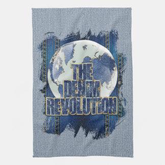 De revolutie van het Denim Theedoek