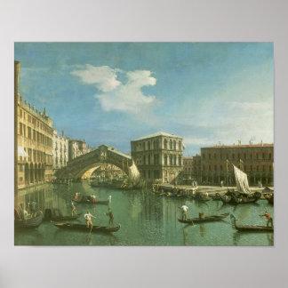 De Rialto Brug, Venetië Poster