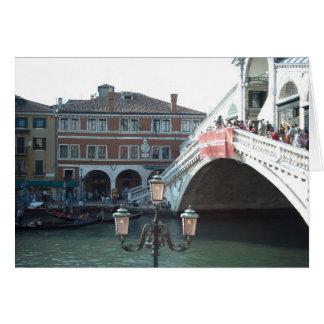 De Rialto Brug, Venetië Wenskaart