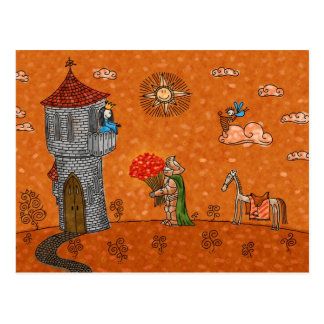 De ridder en de Dame Briefkaart
